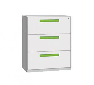 China 3 drawer filing cabinet supplier,CRS 0.5-1.2 material, Non-KD Structure, environmental powder coating, 3 section slide on sale