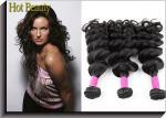 Тип скручиваемости естественных черных выдвижений человеческих волос девственницы бразильских большой