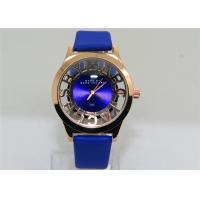 Round Leather strap automatic skeleton watch / Female Elegant  Watches