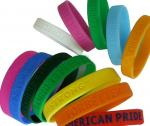 China Colorful Kids / Men Silicone Rubber Bands Eco-friendly wholesale
