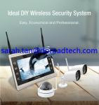 4CH 960P Wifi IP Cameras, Wifi NVR Kit, Wireless NVR with 11 HD LCD Display Screen