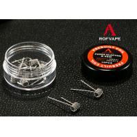 E Cigarette Clapton Coil Super 0.4Ohm Rda Heating 10pcs / box Roll Wire Paper Box Kit