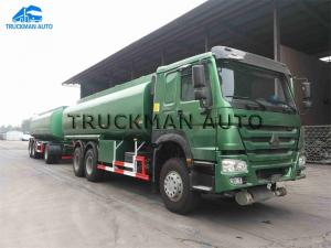 China 20m3 Full Petrol Tank Trailer , Full Car Trailer Q345b Steel Customized  Size on sale