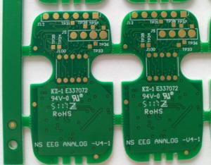China Durable Multilayer PCB Circuit Board 4 Layers FR-4 Tg150 1.0mm 1/H/H/1 Oz Copper ENIG 1U on sale