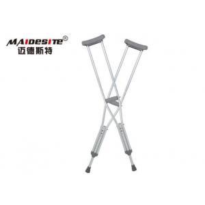China White Black Underarm Crutches , Folding Forearm Crutches For Walking on sale