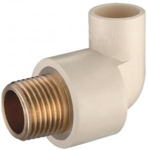 China CPVC Male Elbow With Brass Fittings For Water Supply on sale
