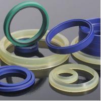 Custom Size Blue Good Abrasion Resistance NBR / HNBR / CR / Silicone Polyurethane Oil Seal