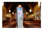 Network Kiosk Multi Cell Phone Charging Station With Big Advertising Screen