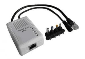 China 5V / 9V / 12V DC POE Power Adapter 1000Base-T IEEE802.3af 12W 20W on sale