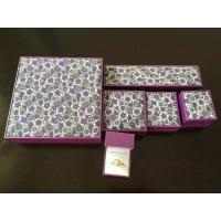 China Classic Leatherette Earring Chain Jewellery Packaging Boxes With Gold Logo Printing on sale
