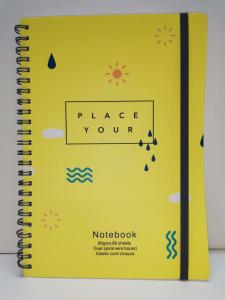 China Yellow Color PVC Hard Cover Spiral Notebook Printing For Promotional Gift on sale