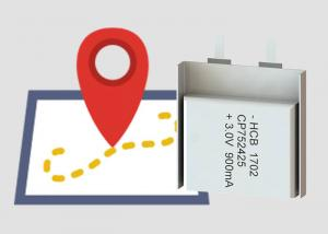 China Lightweight CP752425 Soft Battery , 900mah 7mm 3v Flat Battery For Monitoring on sale