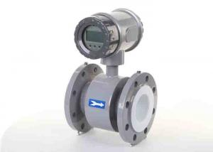 China Battery Powered Electromagnetic Water Flow Meter For Industrial Diameter DN100 supplier