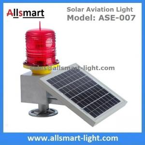 China 30LED Red Solar Obstruction Light Aviation Warning Lamp with Solar Panel For Tower Crane High Building on sale