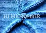 550gsm Microfiber Thick Stripe Coral Fleece Cloth Roya Blue150cm