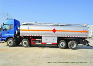 China FOTON AUMAN Steel Oil Tanker Truck , 24000L Diesel Fuel Tank Truck on sale