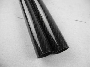 Quality Matte 3k Twill / Plain Weave Full Carbon Fiber Tube 16mm*14mm Tolerance ±0.1mm for sale