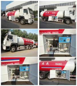China high quality 6x4 HOWO 25300 liters gas cylinder transportation lpg tanker truck for sale, howo lpg gas dispenser truck on sale