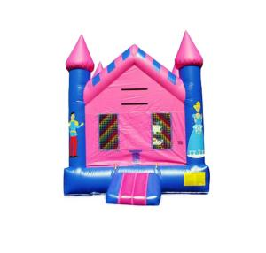 China Newest fashion blue and pink color Inflatable cartoon printed Jumper bouncer house For Kids Toys on sale