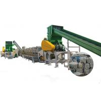 China Heat Resistant Plastic Recycling Line Smart PLC Control System Easy Operation on sale