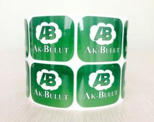 China Large Size Self Adhesive Labels Strong Glue Customized Logo With Green Color on sale