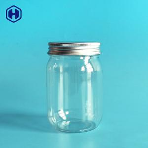 China Oval Ball Shape Leak  Proof Plastic Jar Mason Clear PET Bottle Without Handle on sale