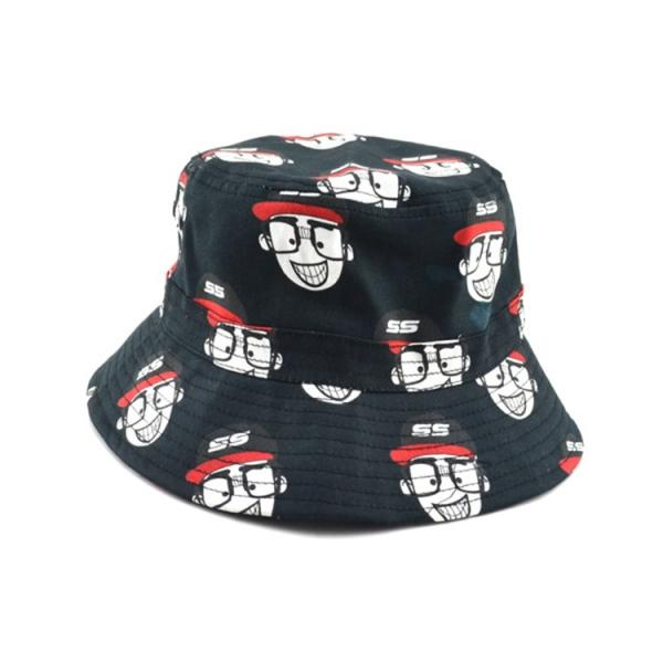 100% cotton cheap custom bulk printed folding men bucket cap bucket hats  size 58 Images 1e2fe4cb4e9