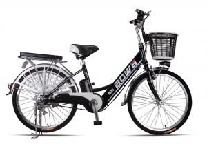 China 48V Womens Hybrid City Lithium Bicycle , Electric Assisted Bicycle With Electric Motor on sale