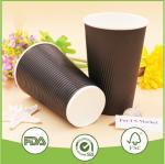 OEM/ODM 10oz Thick black Single wall paper cups