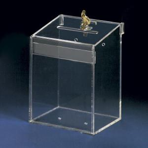 28412fbe252 ... Quality Clear Acrylic plastic donation  collection charity box with  sign holder and lock for sale ...
