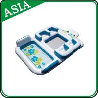 Cool Design Inflatable Island Water Equipment , Inflatable Leisure Water Games