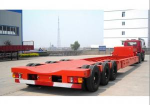 China 60 tons low bed semi trailer for carrying crane/excavator/tractor with hydraulic ladder on sale