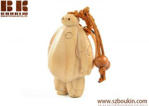 China handmade carving Wooden Cartoon Art Sculpture of Animation Movie Character baymax children toys and crafts on sale