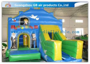 China Customized Small Inflatable Bouncy Castle With Slide for Indoor Party on sale