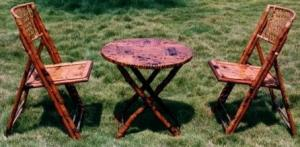 China bamboo rattan table and chairs on sale
