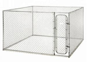 China Custom Made Chain Link Dog Kennel Large Dog Runs 13 X 13 X 6' Size on sale