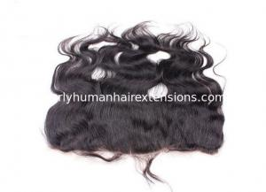 China Full Cuticle Virgin Lace Frontal Closure 100% Peruvian Hair Remy Hair on sale