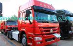 Sinotruk Howo 6X4 の索引車のトラック 371HP、トラック、色の荷を下す赤は選ぶことができます