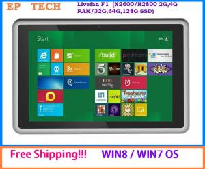 China Free shipping!! 32/64-bit Tablet PC Win7/Win8 OS Atom N2800/N2600 Dual Core 1.86GHz 3G on sale