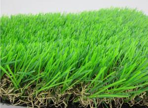 China Natural Lawn Fake Grass Carpet 55MM Height U Shape Yarn 3/8inch Gauge on sale