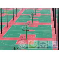 China Dark Red Color SPU Sport Court Surface For Tennis Field With 670 Square Meters on sale