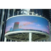 Large Cylingder P10 Indoor Advertising LED Display Screen with High Definition 1R1G1B