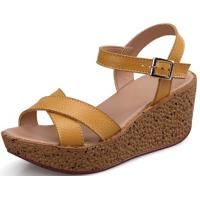 Genuine Leather Casual Flat Sandals For Women