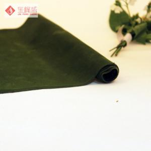 Customized Polyester Jewelry Box Lining Fabric Green With Kintted