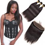 8A Real Indian Human Hair Extensions 3 Piece Lace Frontal Full Cuticle Aligned