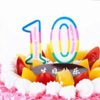 0-9 pink Number candles   Artificial  Number candles  Artificial digital candles