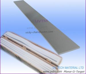 China Chrome Cr PVD Target Planar cathode for low-e solar PV and decorative coating on sale