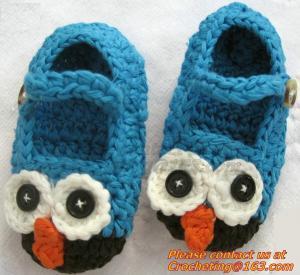 China Baby Boys Girls Crochet Sandal Thongs Slippers Newborn Infant Toddler Prewalker Kids Knitt on sale
