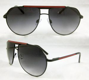China Polarized Grey & brown lens Metal Frame Sunglasses for Men, retro sun glasses BP-7767 on sale