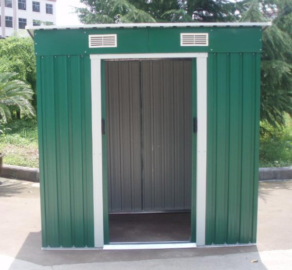 Waterproof uv polycarbonate sheet metal storage shed with for Small storage sheds for sale